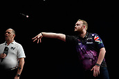 11th January 2018, Brisbane Royal International Convention Centre, Brisbane, Australia; Pro Darts Showdown Series;  Robbie King (AUS) in action against Andy Hamilton (GBR)