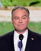 Former Governor Tim Kaine (Democrat of Virginia), a candidate for the United States Senate from Virginia, makes remarks at the 2012 Democratic National Convention in Charlotte, North Carolina on Tuesday, September 4, 2012.  .Credit: Ron Sachs / CNP.(RESTRICTION: NO New York or New Jersey Newspapers or newspapers within a 75 mile radius of New York City)