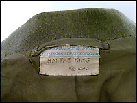 BNPS.co.uk (01202 558833)<br /> Pic: Clevedon/BNPS<br /> <br /> C.F. Johns &amp; Pegg were the makers.<br /> <br /> Fit for a King - George VI th RAF dress jacket.<br /> <br /> One of King George VI's RAF uniform's has emerged for auction and is tipped to sell for &pound;6,000.<br /> <br /> The King was due to wear this khaki service dress jacket, which is inscribed in ink with 'H.M The King, Feb 1940', for a full-length portrait in 1951, just one year before his untimely death.<br /> <br /> However, there was a late change of plan and he wore a different uniform instead from the selection he had brought along on the day.<br /> <br /> Following the sitting, the artist, Maurice Codner, was gifted the jacket by Queen Elizabeth II's father and 66 years later his family have decided to put it up for auction.