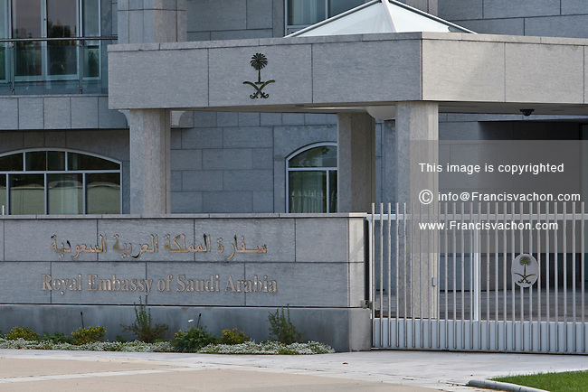 The Royal Embassy of Saudi Arabia in Canada is pictured in Ottawa Wednesday September 29, 2010.