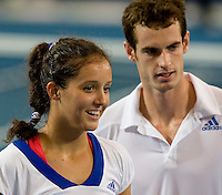 Andy Murray (GBR) and Laura Robson (GBR) against Tommy Robredo (ESP) and Maria Jose Martinez Sanchez (ESP) in the finals  between Great Britain and Spain. Tommy Robredo (ESP) and Maria Jose Martinez Sanchez (ESP) beat Andy Murray (GBR) and Laura Robson (GBR)  7-6 7-5..International Tennis - Hyundai Hopman Cup XXII - Sat 09 Jan 2010 - Burswood Dome - Perth - Australia ..© CameraSport - 43 Linden Ave. Countesthorpe. Leicester. England. LE8 5PG - Tel: +44 (0) 116 277 4147 - admin@camerasport.com - www.camerasport.com