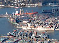 Deutschland, Hamburg, Containerhafen, Burchardkai