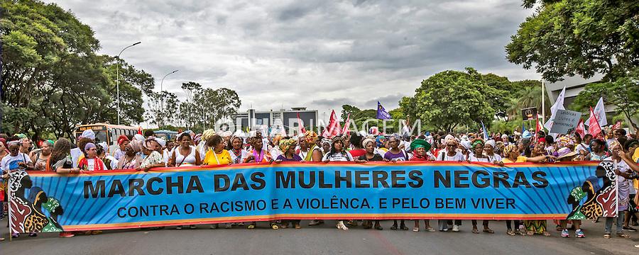 Manifestaçao Marcha das Mulheres Negras. Brasilia. Distrito Federal. 2015. Foto de Ubirajara Machado.