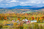 Autumn farmland in Barnet, Northeast Kingdom, VT