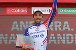 Thibaut Pinot (FRA) Groupama-FDJ wins Stage 19 of the La Vuelta 2018, running 154.4km from Lleida to Andorra, Naturlandia, Andorra. 14th September 2018.                   <br /> Picture: Colin Flockton | Cyclefile<br /> <br /> <br /> All photos usage must carry mandatory copyright credit (© Cyclefile | Colin Flockton)
