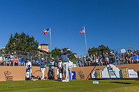 Harris English (USA) watches his tee shot on 10 during Round 4 of the Valero Texas Open, AT&amp;T Oaks Course, TPC San Antonio, San Antonio, Texas, USA. 4/22/2018.<br /> Picture: Golffile | Ken Murray<br /> <br /> <br /> All photo usage must carry mandatory copyright credit (&copy; Golffile | Ken Murray)