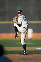 Wake Forest Demon Deacons relief pitcher Rayne Supple (30) in action against the Richmond Spiders at David F. Couch Ballpark on March 6, 2016 in Winston-Salem, North Carolina.  The Demon Deacons defeated the Spiders 17-4.  (Brian Westerholt/Four Seam Images)
