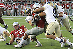 Chantz Staden (#22), Washington State senior running back, fights for the goal line during the Cougars 23-22 comeback victory over Montana State at Martin Stadium on the WSU campus on September 11, 2010.