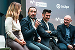 Danae Boronat, Juanma Castaño, Alvaro Benito, Julio Maldonado,  during the presentation of the strategic alliance between Movistar and Laliga<br /> October 4, 2019. <br /> (ALTERPHOTOS/David Jar)