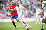 Karim Bezema of Real Madrid in action during the La Liga match between Real Madrid and Osasuna at the Santiago Bernabeu Stadium on 10 September 2016 in Madrid, Spain. Photo by Diego Gonzalez Souto / Power Sport Images