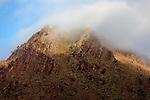 High Atlas mountain with morning fog, Morocco.