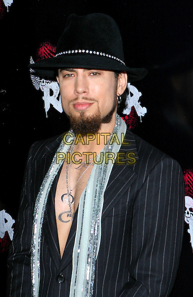DAVE NAVARRO.Rokbar Hollywood Launch Party held at Rokbar, Hollywood, CA..June 30th, 2005.Photo credit: Jacqui Wong/AdMedia.hlaf length  tattoos sequin scarf hat goatee facial hair.www.capitalpictures.com.sales@capitalpictures.com.© Capital Pictures.