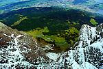 The valley below Mount Pilatus.
