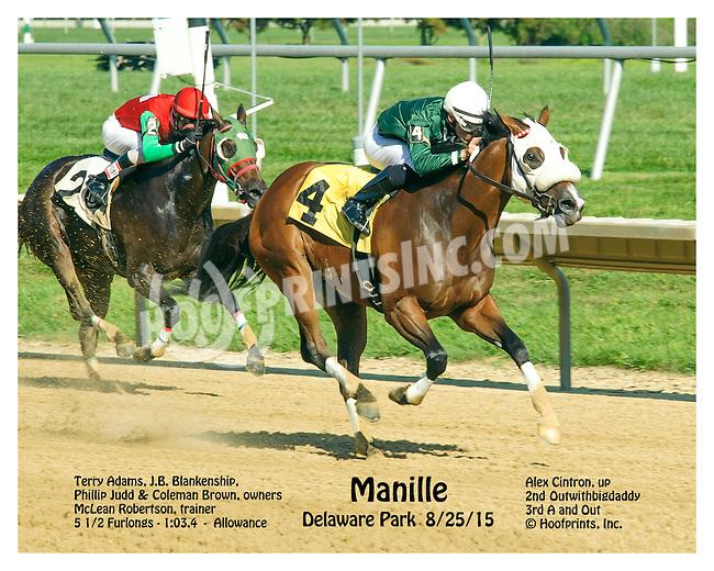 Manille winning at Delaware Park on 8/25/15