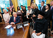 Paula White speaks as United States President Donald J. Trump welcomes survivors of religious persecution to the Oval Office at the White House in Washington, D.C. on Wednesday, July 17, 2019. <br /> Credit: Kevin Dietsch / Pool via CNP