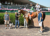 Good Feng Shui winning at Delaware Park racetrack on 7/7/14