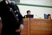 Roma, 19 Novembre 2015<br /> La Presidente Rosanna Ianniello<br /> Aula bunker di Rebibbia<br /> Terza udienza del processo Mafia Capitale, Roma Capitale, avvocati,