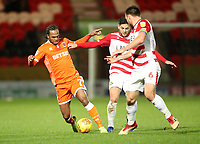 Blackpool's Nathan Delfouneso<br /> <br /> Photographer Rachel Holborn/CameraSport<br /> <br /> The EFL Sky Bet League One - Doncaster Rovers v Blackpool - Tuesday 27th November 2018 - Keepmoat Stadium - Doncaster<br /> <br /> World Copyright &copy; 2018 CameraSport. All rights reserved. 43 Linden Ave. Countesthorpe. Leicester. England. LE8 5PG - Tel: +44 (0) 116 277 4147 - admin@camerasport.com - www.camerasport.com