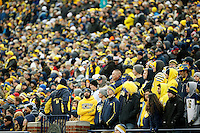 Michigan Wolverines student watch in the 4th quarter as their team is behind Ohio State at Michigan Stadium in Arbor, Michigan on November 28, 2015.  (Dispatch photo by Kyle Robertson)
