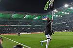 01.12.2019, Borussia-Park - Stadion, Moenchengladbach, GER, DFL, 1. BL, Borussia Moenchengladbach vs. SC Freiburg, DFL regulations prohibit any use of photographs as image sequences and/or quasi-video<br /> <br /> im Bild Marcus Thuram  (#10, Borussia Moenchengladbach) feiert den Sieg <br /> <br /> Foto © nordphoto/Mauelshagen