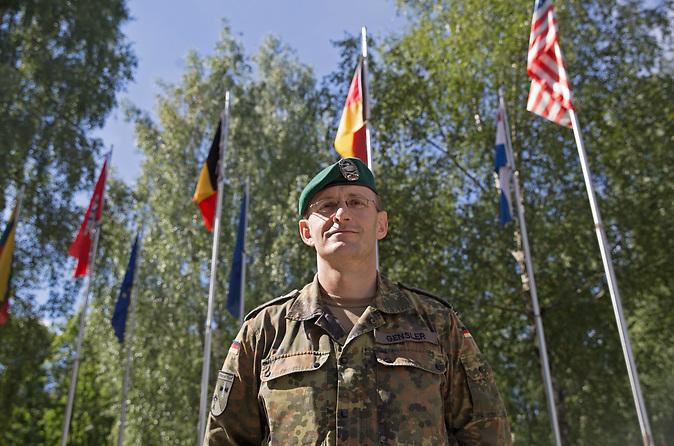 In der litauischen Kleinstadt Rukla ist ein Battlegroup der NATO unter dem Oberkommando der Bundeswehr stationiert. Bild: Oberstleutnant Thorsten Gensler