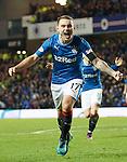 Lee Hodson celebrates his goal for Rangers
