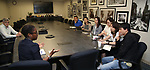 Central Academy of Drama: Professors Visit Broadway League on September 25, 2017 at the Broadway League in New York City.