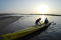 San Remo, Italy,  GV. General Views around the  beach, at the FISA Coastal World Championships. Fri. 17.10.2008.[Photo, Peter Spurrier/Intersport-images] Coastal Rowing Course: San Remo Beach, San Remo, ITALY , Sunrise, Sunsets, Silhouettes Equipment,