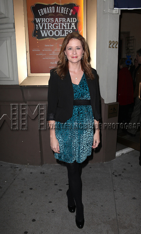 Jenna Fischer attending the Opening Night Performance of Edward Albee's 'Who's Afraid of Virginia Woolf?' at the Booth Theatre on October 13, 2012 in New York City.