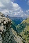 Vue sur le Canyon d'Ordesa. Pyrénées centrales. Parc national D'ordesa et du Mont Perdu. Patrimoine mondial de l'Unesco. Espagne