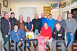 Ramblers Golf Society: Attending the Ramblers Golf Society prize night at Browne's Bar, Ballyduff on Saturday night last were in front Brian McGrath, Paul McCarthy & Moss Joe Browne, sponsor. Back : Mark Condon, Padraigh Harrington, Tom McGrath, John M O'Connor, Jimmy O'Sullivan, Timmy Slattery, Kevin McGrath, Vince Linnane & Kenneth  Boyle.