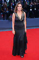 Monica Guerritore attends the red carpet for the Kineo Award, during the 72nd Venice Film Festival at the Palazzo Del Cinema in Venice, Italy, September 6, 2015.<br /> UPDATE IMAGES PRESS/Stephen Richie