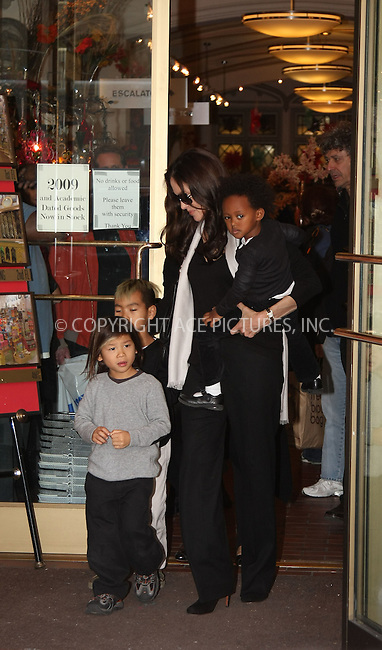 WWW.ACEPIXS.COM ** ** ** ....October 4 2008, New York City....Actress Angelina Jolie took some of her children to an art shop in midtown Manhattan on October 4 2008 in New York City.....Please byline: STAN ROSE -- ACEPIXS.COM.. *** ***  ..Ace Pictures, Inc:  ..tel: (646) 769 0430..e-mail: info@acepixs.com..web: http://www.acepixs.com