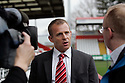 New Stevenage manager Gary Smith talks to the media. - Stevenage FC new manager press conference - Lamex Stadium, Stevenage - 25th January 2012 . © Kevin Coleman 2012