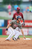 Arkansas Travelers first baseman Kyle Waldrop (10) runs the base during a game against the Frisco RoughRiders on May 28, 2017 at Dickey-Stephens Park in Little Rock, Arkansas.  Arkansas defeated Frisco 17-3.  (Mike Janes/Four Seam Images)