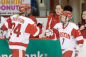 Melissa Anderson (BU - 24), Melissa David, Lauren Cherewyk (BU - 7) - The Boston University Terriers defeated the Providence College Friars 5-3 on Saturday, November 14, 2009, at Agganis Arena in Boston, Massachusetts.