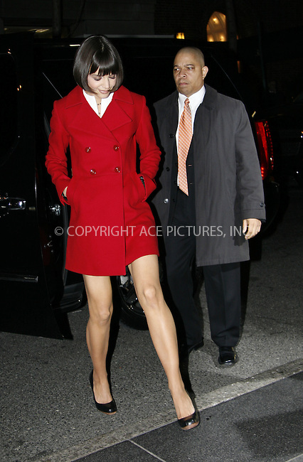 WWW.ACEPIXS.COM . . . . .  ....January 14 2008, New York City....Actress Katie Holmes arriving back at her hotel following an appearance on the Letterman Show.....Please byline: NANCY RIVERA- ACE PICTURES.... *** ***..Ace Pictures, Inc:  ..tel: (646) 769 0430..e-mail: info@acepixs.com..web: http://www.acepixs.com