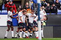 Bolton Wanderers' Gary O'Neil celebrates scoring his side's second goal with his team mates<br /> <br /> Photographer Andrew Kearns/CameraSport<br /> <br /> The EFL Sky Bet Championship - Bolton Wanderers v Millwall - Saturday 9th March 2019 - University of Bolton Stadium - Bolton <br /> <br /> World Copyright © 2019 CameraSport. All rights reserved. 43 Linden Ave. Countesthorpe. Leicester. England. LE8 5PG - Tel: +44 (0) 116 277 4147 - admin@camerasport.com - www.camerasport.com