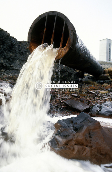 Outflow pipe to beach from Dawdon Colliery; Co Durham; UK