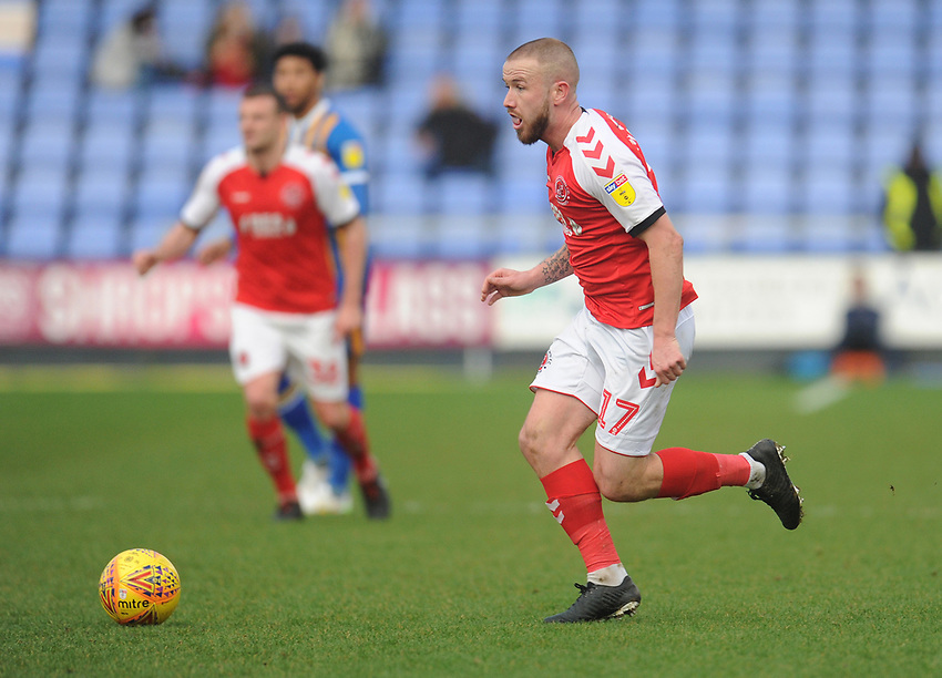 Fleetwood Town's Paddy Madden<br /> <br /> Photographer Kevin Barnes/CameraSport<br /> <br /> The EFL Sky Bet League One - Shrewsbury Town v Fleetwood Town - Tuesday 1st January 2019 - New Meadow - Shrewsbury<br /> <br /> World Copyright © 2019 CameraSport. All rights reserved. 43 Linden Ave. Countesthorpe. Leicester. England. LE8 5PG - Tel: +44 (0) 116 277 4147 - admin@camerasport.com - www.camerasport.com