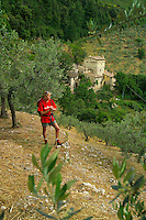 Poreta Umbria, Italy, June 2006. From the Castello di Poreta one has a good view over the beautiful surrounding countryside with its medieval walled villages and cities, olive groves and vineyards. Photo By Frits Meyst/Adventure4ever.com