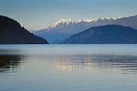 North Kootenay Lake as viewed from  Kaslo, BC. Mount Willet and the Purcell Conservancy in the background.