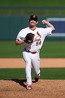 Surprise Saguaros pitcher Dean Kiekhefer (54) delivers a pitch during an Arizona Fall League game against the Salt River Rafters on October 20, 2015 at Salt River Fields at Talking Stick in Scottsdale, Arizona.  Surprise defeated Salt River 3-1.  (Mike Janes/Four Seam Images)