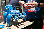 A robot Tachikoma from Ghost in the Shell on display during the Slush Tokyo 2017 event on March 29, 2017, Tokyo, Japan. The 2 day event features outstanding entrepreneurs sharing their stories and showcasing their products and services in Tokyo Big Sight. (Photo by Rodrigo Reyes Marin/AFLO)