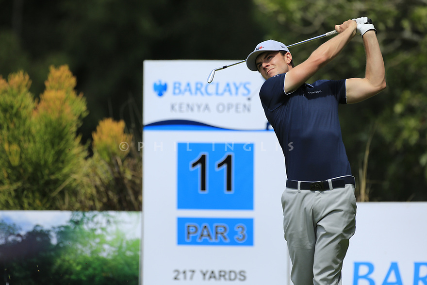 Laurie Canter (ENG) during the third round of the Barclays Kenya Open played at Muthaiga Golf Club, Nairobi, Kenya 22nd - 25th March 2018 (Picture Credit / Phil Inglis) 22/03/2018<br /> <br /> <br /> All photo usage must carry mandatory copyright credit (&copy; Golffile | Phil Inglis)