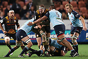 June 3rd 2017, FMG Stadium, Waikato, Hamilton, New Zealand; Super Rugby; Chiefs versus Waratahs;  Chiefs lock Brodie Retallick is tackled during the Super Rugby rugby match