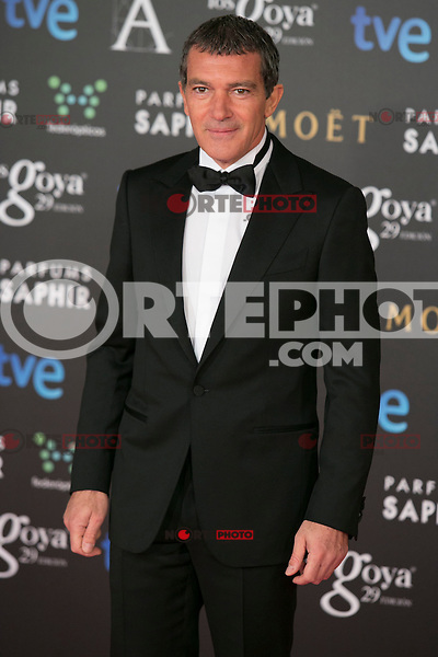 Antonio Banderas attend the 2015 Goya Awards at Auditorium Hotel, Madrid,  Spain. February 07, 2015.(ALTERPHOTOS/)Carlos Dafonte) /NORTEphoto.com