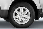 Tire and wheel close up detail view of a 2008 Honda Element EX SUV