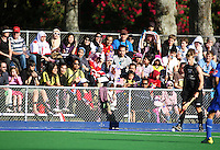 Malaysia fans during the international hockey match between the New Zealand Black Sticks and Malaysia at Fitzherbert Park, Palmerston North, New Zealand on Sunday, 9 August 2009. Photo: Dave Lintott / lintottphoto.co.nz