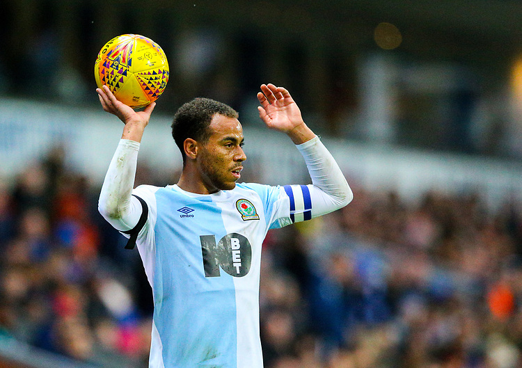 Blackburn Rovers' Elliott Bennett<br /> <br /> Photographer Alex Dodd/CameraSport<br /> <br /> The EFL Sky Bet Championship - Blackburn Rovers v Queens Park Rangers - Saturday 3rd November 2018 - Ewood Park - Blackburn<br /> <br /> World Copyright © 2018 CameraSport. All rights reserved. 43 Linden Ave. Countesthorpe. Leicester. England. LE8 5PG - Tel: +44 (0) 116 277 4147 - admin@camerasport.com - www.camerasport.com